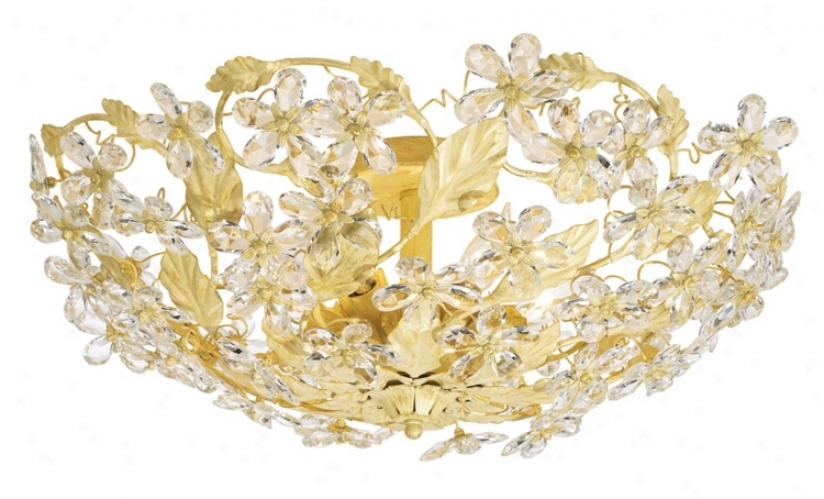 "Crystorama Swarovsk Crystal 25"" Wide Ceiling Light Fixture (86343)"