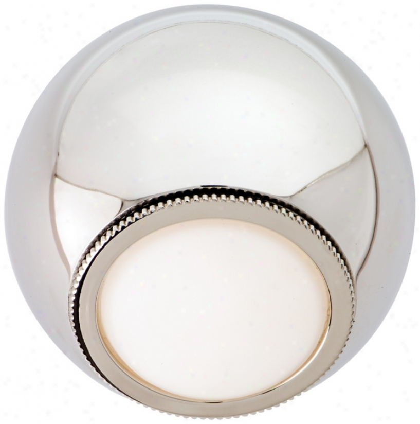 Csl Orb Polished Nickel 5 1/4&qutl; Wide Led Wall Light (t0074)