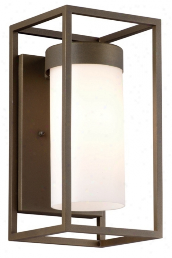 "Cubee Collection Bronze 12"" High Outdoor Wall Light (l0329)"