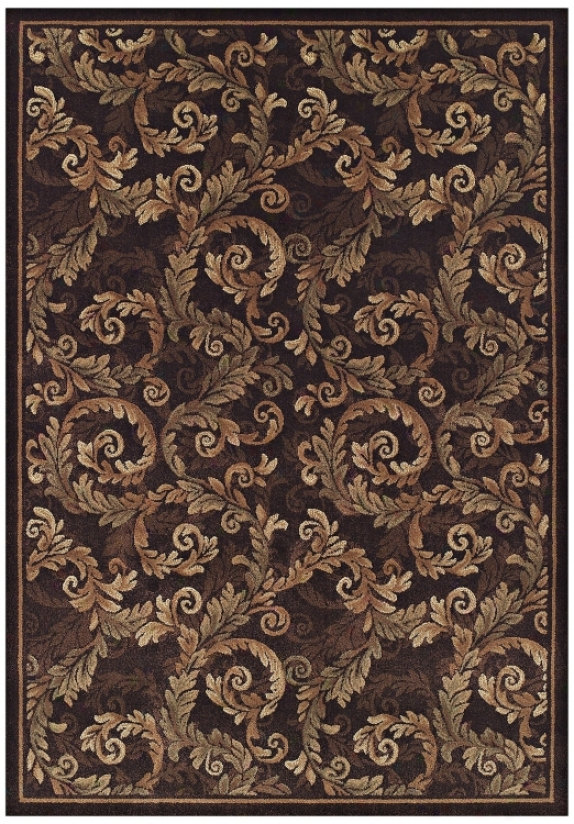 Curled Acanthus Sable 7' 10&qiot;x10' 7q&uot; Area Rug (j5350)