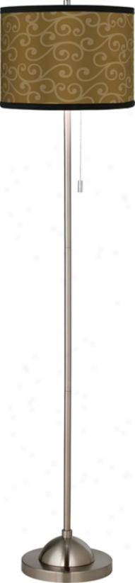Curlicue Bronze Giclee Floor Lamp (99185-84874)