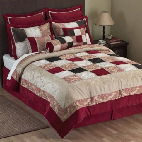 Currant And Brown 14-piece Super Pack Bed Set (h6135)