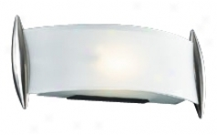 "Curved Accid Frost Glass 13 1/2"" Wide Ada Wall Sconce (h4280)"