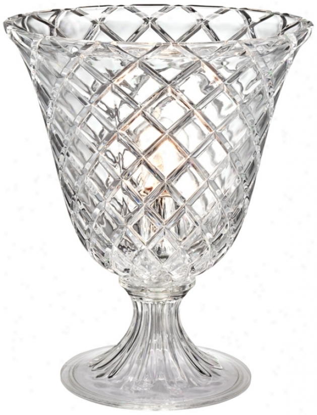Sculpture Crystal Urn Accent Lamp (t8451)