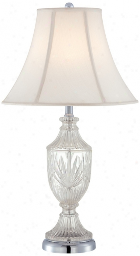 Cut Glass Urn With Chrome Accents Table Lamp (t4687)