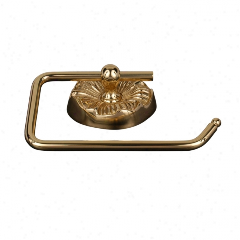 Daisy Polished Brass Euro-style Toilet Paper Holder (08145)