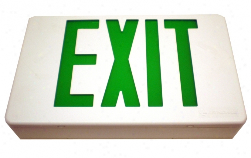 Damp Location Green Led Exit Sign (34468)