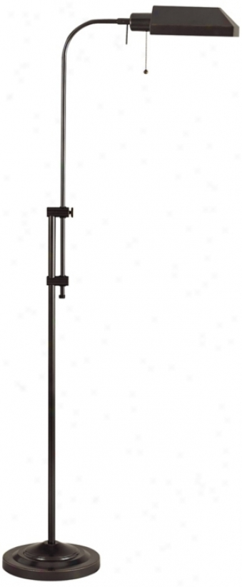 Dark Bronze Adjustable Pole Pharmacy Metal Floor Lamp (p9580)