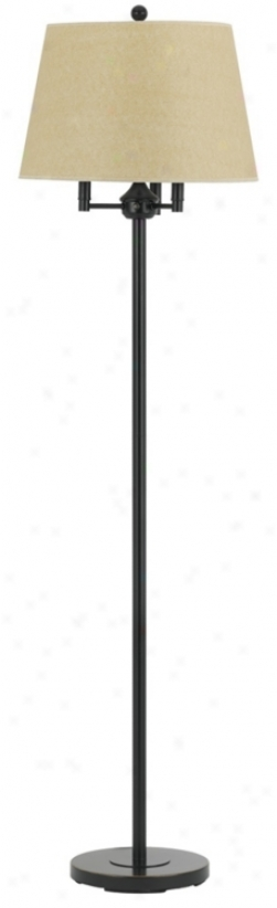 Dark Brpnze Finish 6-way Light Floor Lamp (t7953)