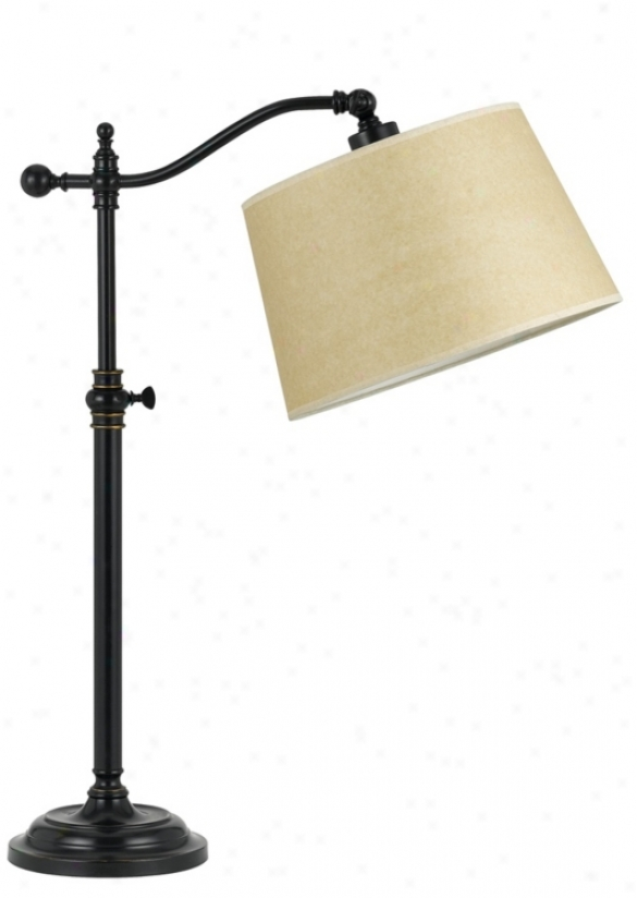 Dark Bronze Polish Adjustable Downbrixge Desk Lamp (t8628)