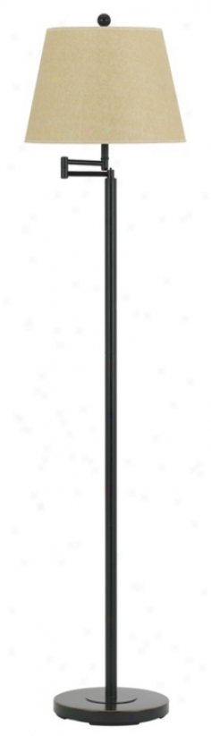 Dark Bronze Finish Metal Swing Arm Floor Lamp (t7958)