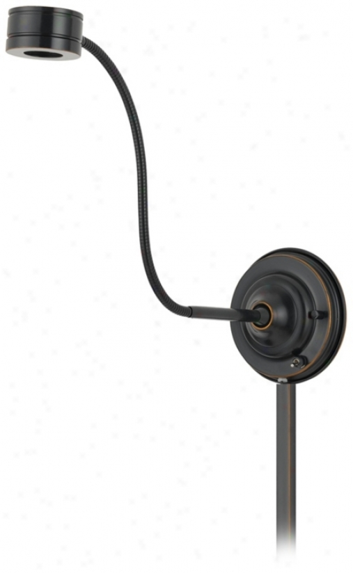 Dark Bronze Saucer Led Plug-in Swing Arm Wall Lamp (n7474)