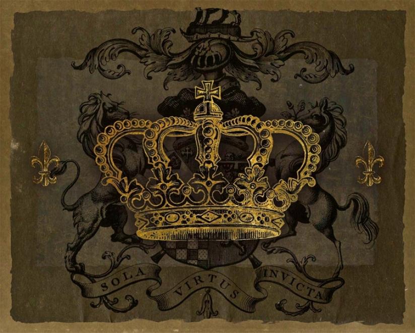 "Dark Crowns 3 Giclee 20"" High Camvas Wall Art (n1790)"