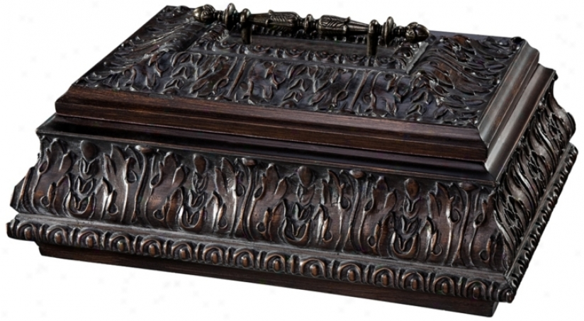Dark Gold Finished Decorative Box (r2250)