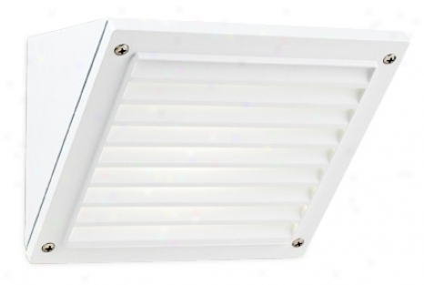 "Dar kSky White Grid 6"" High Outdoor Wall Light (00058)"