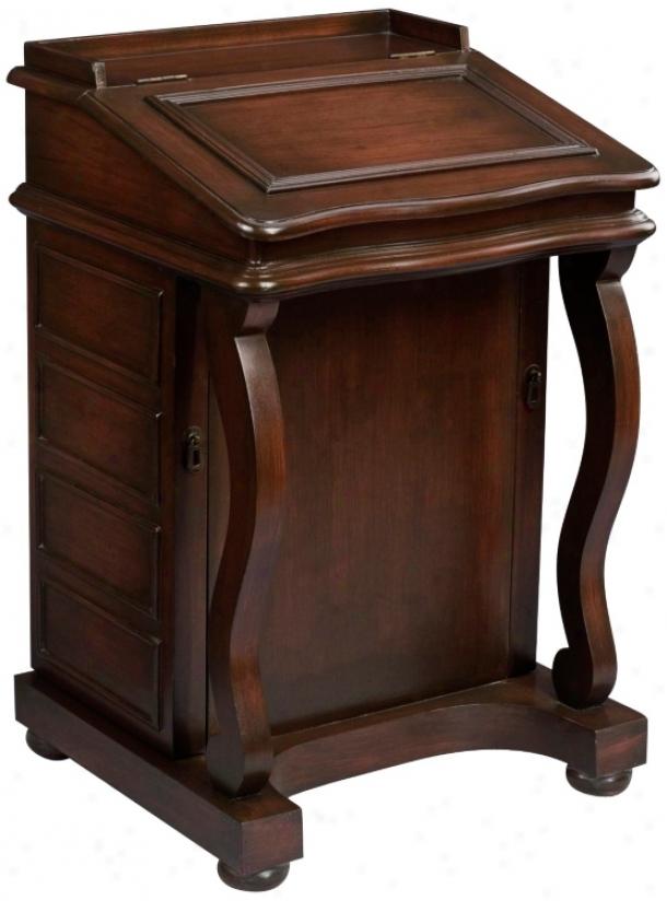 Davenport Desk Style Jewelry Cabinet (j8609)