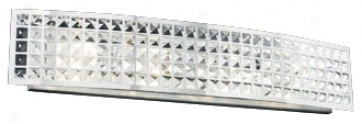 "Deco Crystal And Chrome 36"" Wide Bathroom Light Fixture (h3915)"