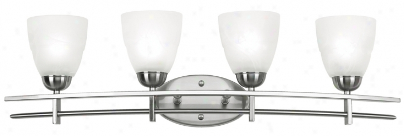 "Deco Nickel Collection 33"" Remote Bathroom Light Fixure (96106)"