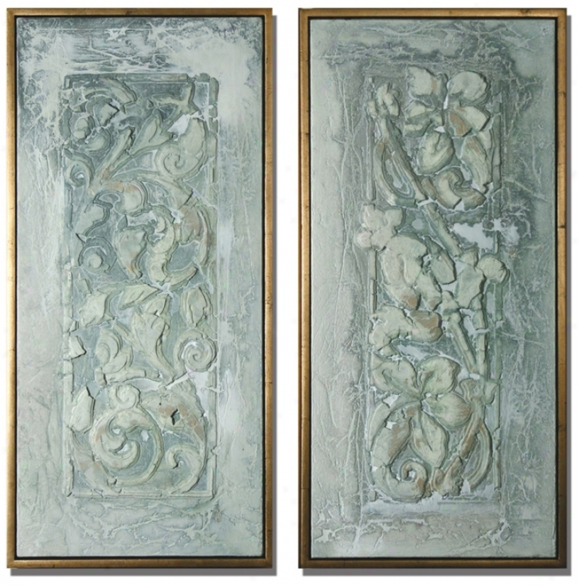 Decorative Flower Scroll Wall Decor Panels (m4077)
