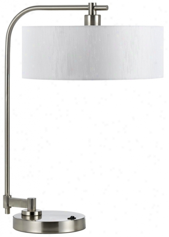 Delora Brushed Steel Desk Lamp (g8623)