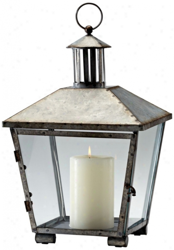 Delta Lantern Rustic Iron Candle Holder (v0523)