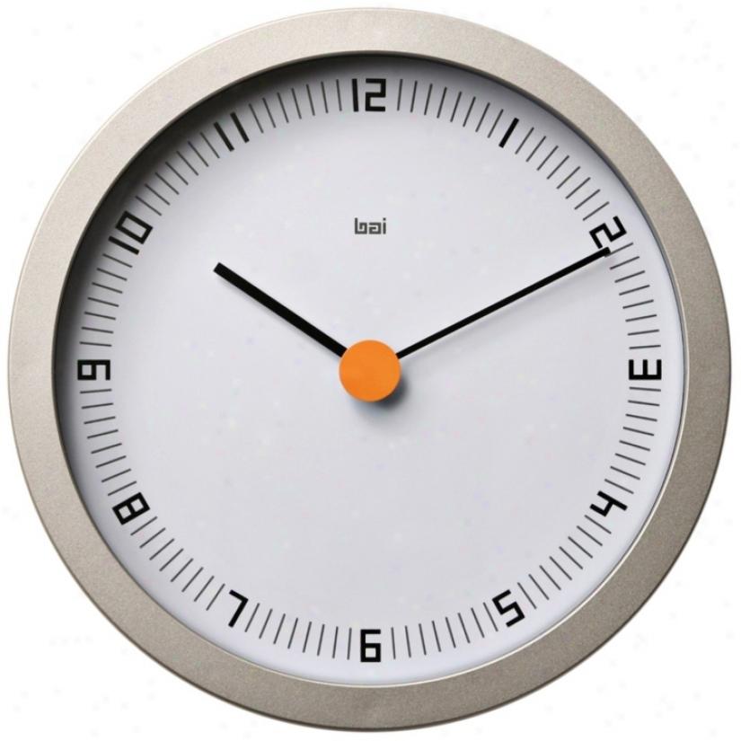 "Designer Studjo Dot Zero 8"" Wide Modern Wall Clock (v5331)"