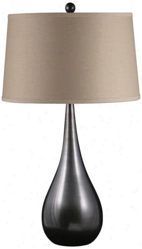 Dewdrop Oil-rubbed Bronze Spun Metal Table Lamp (u9244)