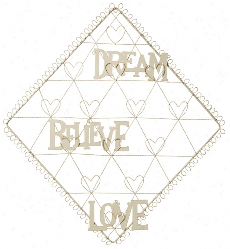 Diamond With Hearts Dream, Believe, Love Card Holder (n6949)