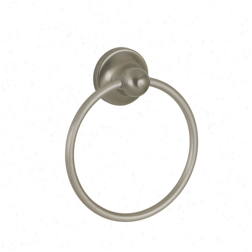 Diamondback Satin Nickel Bathroom Towel Ring (51413)