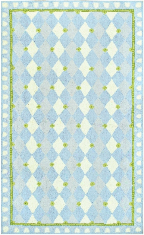 "Diamonds Forever Blue 2' 8""x4' 8"" Area Rug (f4443)"