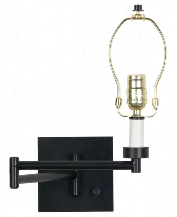 Dimmable Espresso Bronze Finish Plug-in Swing Arm Bade (794l2)