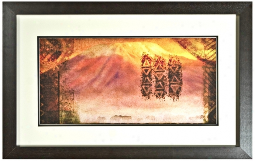 "Disney Th Lion King Kilimanjaro Framed 30"" Wide Wall Art (j2822)"