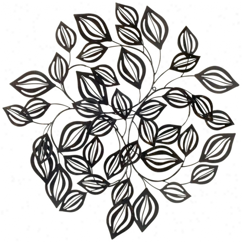 Distressed Bronze Leaves 27 1/2&quot; Wide Metal Wall Decor (r3625)