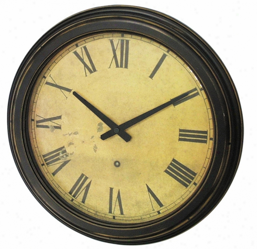 Distressed Case Resin Wall Clock (g8728)