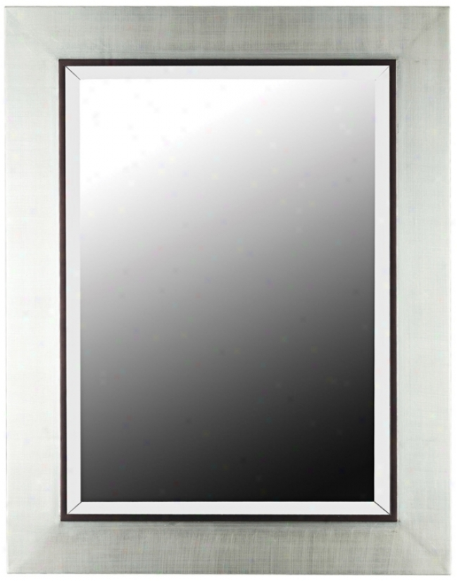 "District Silver Finish 38"" High Wall Mirror (t5052)"