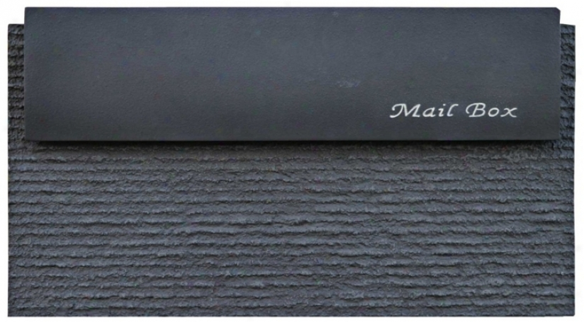 Dune Wither Black Finish Wallmount Mailbox (t6772)