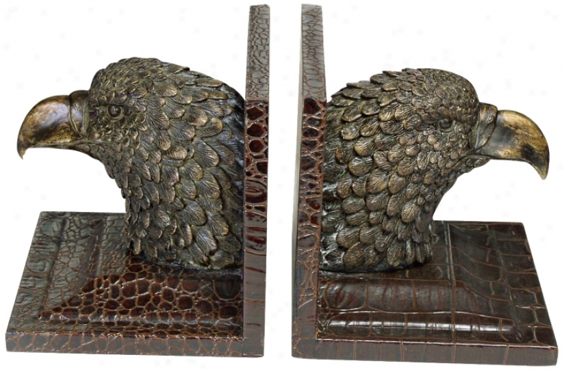 Eagle Head Bookends (j3134)