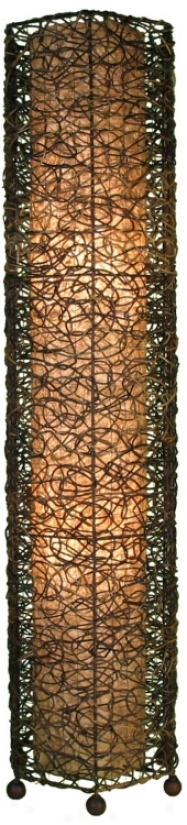 Eangee Durian Nito Tower Vines Iron Floor Lamp (m2185)