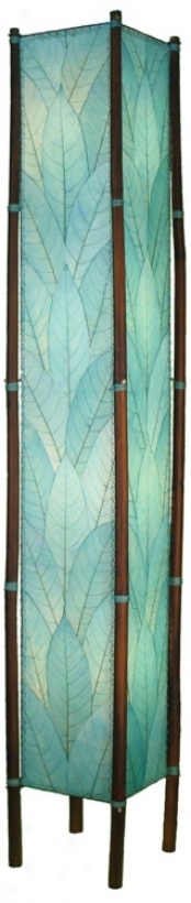 Eangee Fortune Tower Seablue Cocoa Leaf Shade Floor Lamp (m2138)
