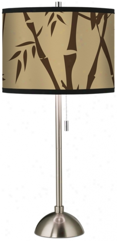 Earth Bamboo Giclee Shade Table Lamp (60757-h8491)