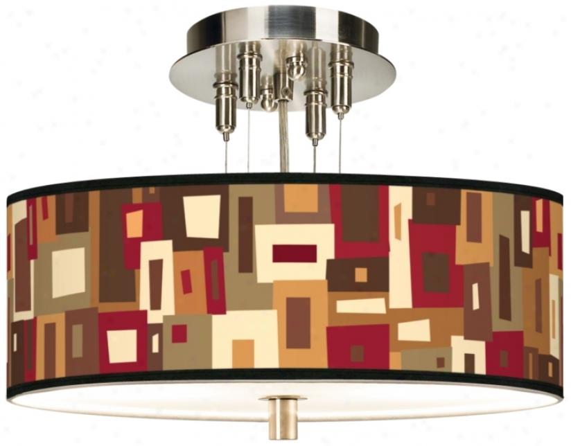 "Earth Palette Giclee 14"" Wide Ceiling Light (55369-j1810)"