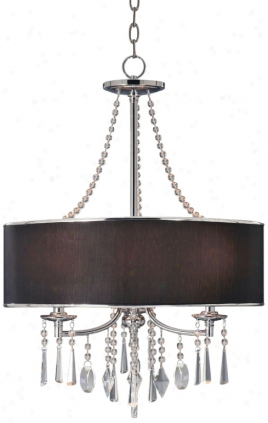 "Echelon Crystals And Black Shade 21"" Wide Pendant Light (u8746)"