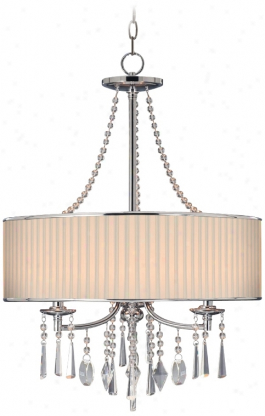 "Echelon Crystals And Bridal Shade 21"" Wide Pendant Light (u8744)"