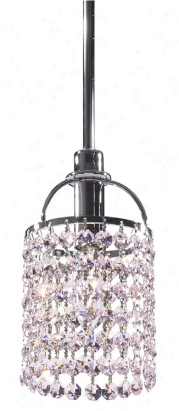 Echo Rosaline Pink Crystal Mini Pendant Chandelier (39456)