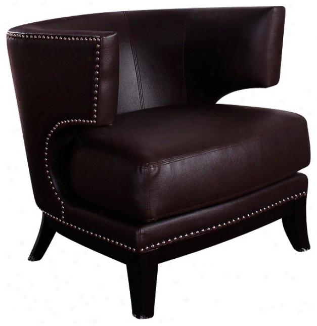 Eclipse Brown Vinyl Club Chair (p6053)