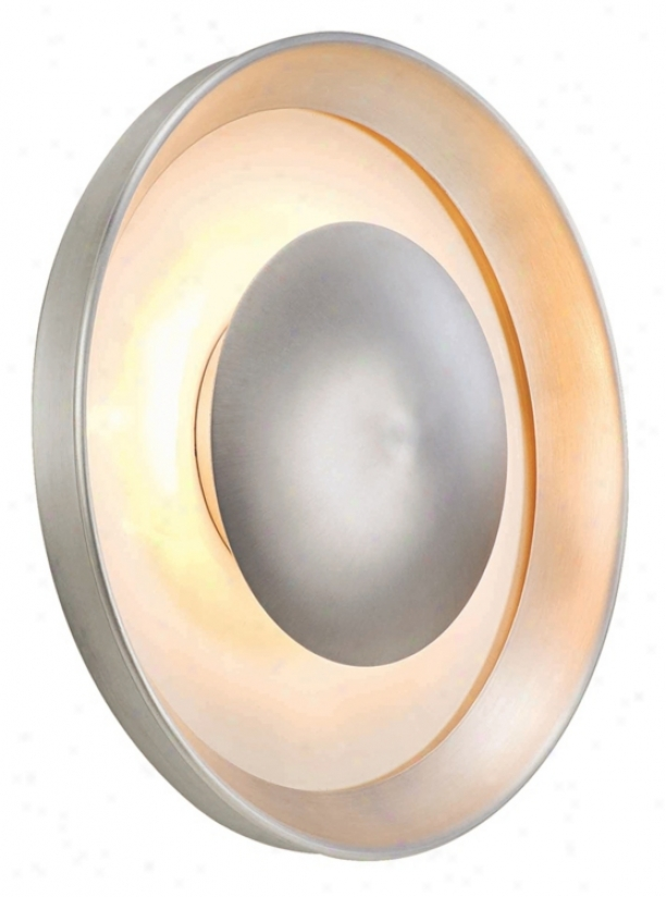 "Eclipse Satin Aluminum 12"" Wide Ada Outdoor Wall Light (h0724)"