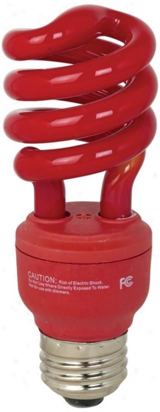 Ecobulb 13 Watt Cfl Twist Red Party Bulb (77847)