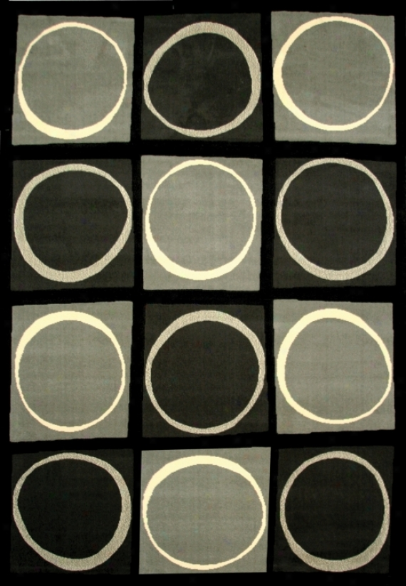 Econox Accumulation Eclipse Gray Area Rug (j1095)