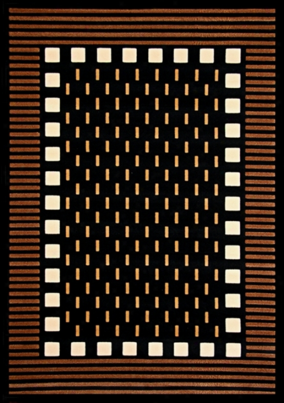 Econox Collection Fortress Brown Area Rug (j2109)