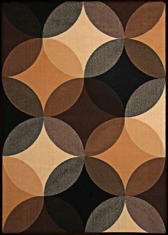 Econox Colleftion Shadow And Light Brown Area Rug (j2110)